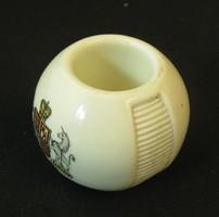 Dörzsgyufa tartó cimeres porcelán