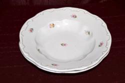 2 db Zsolnay tollazott mély tányér  ( DBZ 00117 )
