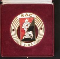 Kispesti KAC auto hűtő jelvény 1909 RRRR!