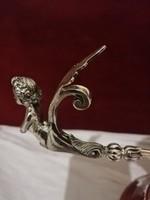 Antik ezüst empir kínáló