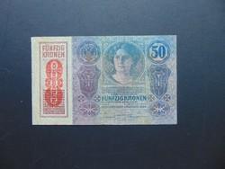 50 korona 1914 Osztrák Felülbélyegzés