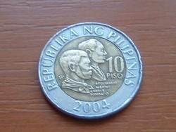 FÜLÖP-SZIGETEK 10 PISO 2004 BIMETÁL #