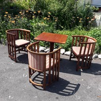 """Thonet""  fotel + asztal."