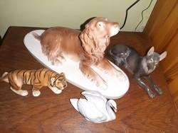 Porcelán  állatsereg