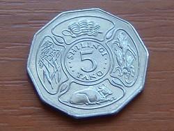 TANZÁNIA 5 SHILINGI 1993 #