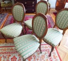 Biedermeier kárpitozott szék 2 db