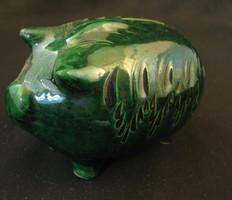 Zöld kerámia malacpersely