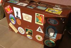 Utazóbőrönd - reklámnak - dekorációnak