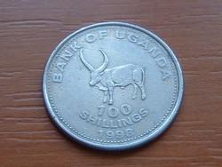 UGANDA 100 SHILLINGS 1998 Sanga szarvasmarha #