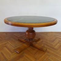 Ónémet köralakú asztal márvány betéttel