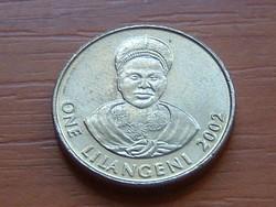 SWAZILAND SZVÁZIFÖLD 1 LILANGENI 2002 #