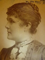 Blaha Lujza kabinet foto - nagy méret - fénykép aláírva. 1885 körül.