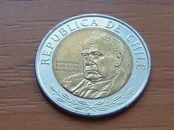 CHILE 500 PESOS 2017 BIMETÁL #