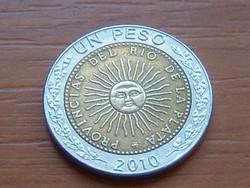 ARGENTÍNA 1 PESO 2010 BIMETÁL #