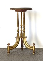 0X497 Antik aranyozott szalonasztal lerakóasztal