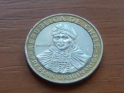 CHILE 100 PESOS 2011 BIMETÁL #