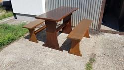 Fenyő asztal két paddal , AKCIÓ!!!