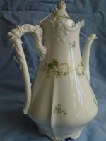 XIX.sz RARE Hermann Ohme Antique EGLANTINE Germany Porcelain Dragon Teapot