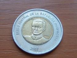 DOMINIKA DOMINICA 10 PESOS 2007 BIMETÁL #