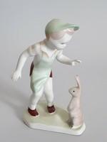 Aquincumi porcelán pékfiú nyuszival