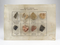 0X444 Balaton környéki ásvány gyűjtemény 8 db