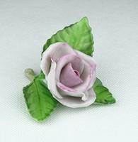 0P020 Régi Herendi porcelán rózsa