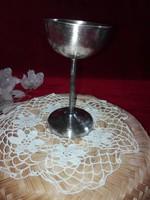 Röviditalos ezüstözött pohár kehely, jelzet