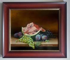 Pankotai Alexandra - Gyümölcs csendélet - olajfestmény - ajándék kerettel
