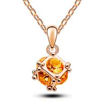 Aranyozott  nyaklánc kristály köves medállal ABL-K03-1
