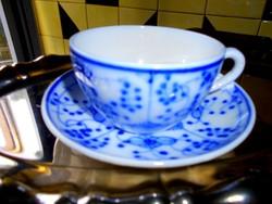 Sarreguemines francia porcelánfajansz csésze +  csészealj