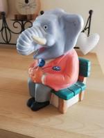Régi KKB Bank elefánt persely