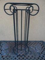 Antik kovácsoltvas virágtartó oszlop posztamens 77*37*27 cm
