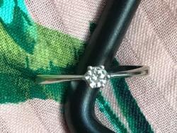 Gyémánt arany gyűrű 14k 585 53-as méret