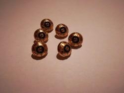 Nagyon szép, női ruházati  fém gombok,aranyszinű,korona diszitéssel  6 db egyben !
