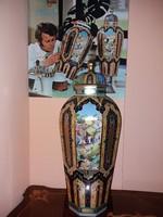Makulátlan Herendi Babur váza 65cm!