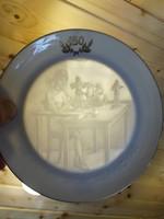 Herendi jubileumi porcelán áttetsző fali dísztányér
