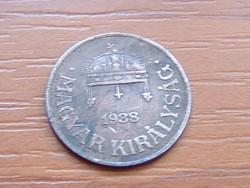 MAGYAR KIRÁLYSÁG 1 FILLÉR 1938 BP.