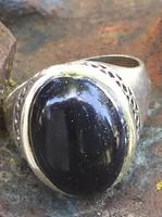 Gyönyörű ezüst gyűrű!! kék kővel!!