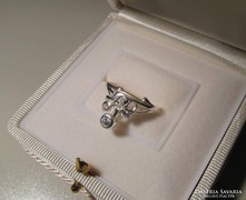 Itt hamarosan akció lesz!! --- Szecessziós köves ezüst gyűrű - belső átmérője:  16,8 mm