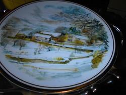 Angol  porcelán  dísztányér  21,5 cm