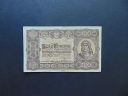 100 korona 1923 Magyar Pénzjegynyomda RT