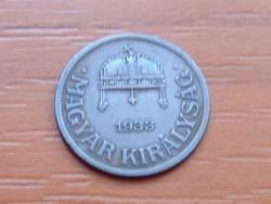 MAGYAR KIRÁLYSÁG 1 FILLÉR 1933 BP.
