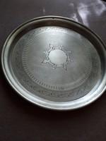 Vésett Diannás ezüst tálca