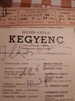 Illyés Gyula  dedikálása
