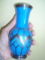 Gyönyörű kis kék szecessziós porcelán váza