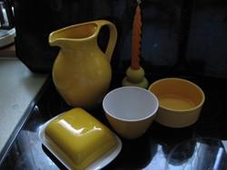 Nagy sárga tejes kancsó