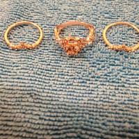 3 db. Női gyűrű szett