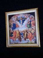 Régi katolikus vallási kép keretezve