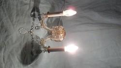 Gyönyörű, csiszolt, metszett üveg fali lámpa
