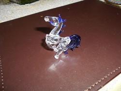 Ágaskodó ló muránói üvegből